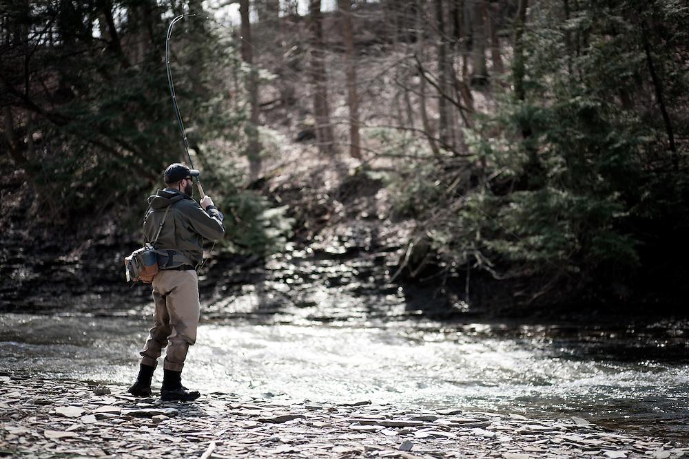 Fly Fishing for spring Steelhead on Pennslyvania's Elk Creek