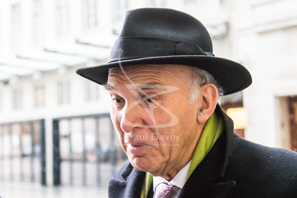 London, December 10 2017. The Liberal Democrats leader Vince Cable at the BBC's Broadcasting House in London. © Paul Davey
