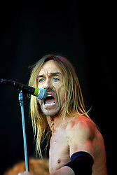 Iggy Pop on stage at Gig on the Green 2001 on Sunday 26th August 2001, at <br /> Glasgow Green, Glasgow, Scotland.