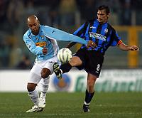 Roma 12/2/2005 Campionato Italiano Serie A <br /> Lazio Atalanta 2-1 <br /> Ousmane Dabo Lazio and Antonino Bernardini Atalanta <br /> Photo Fabrizio Corradetti Digitalsport