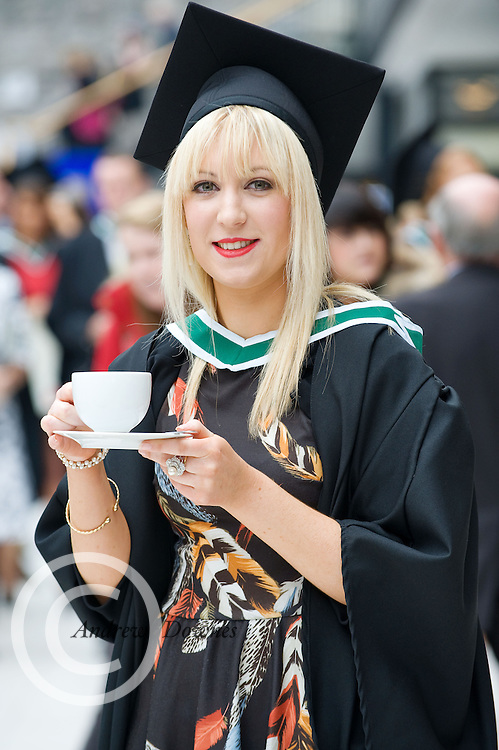 Lindsay Costello from Ballinasloe Galway who got her Honors Bachelor of Arts Degree from NUI,Galway. Photo:Andrew Downes.