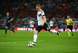 November 10, 2017 - London, England, United Kingdom - Marcel Halstenberg of Germany  making his Debut..during International Friendly match between England  and Germany  at Wembley stadium, London  on 10 Nov  , 2017 Marcel Halstenberg of Germany ..during International Friendly match between England  and Germany  at Wembley stadium, London  on 10 Nov  , 2017  (Credit Image: © Kieran Galvin/NurPhoto via ZUMA Press)