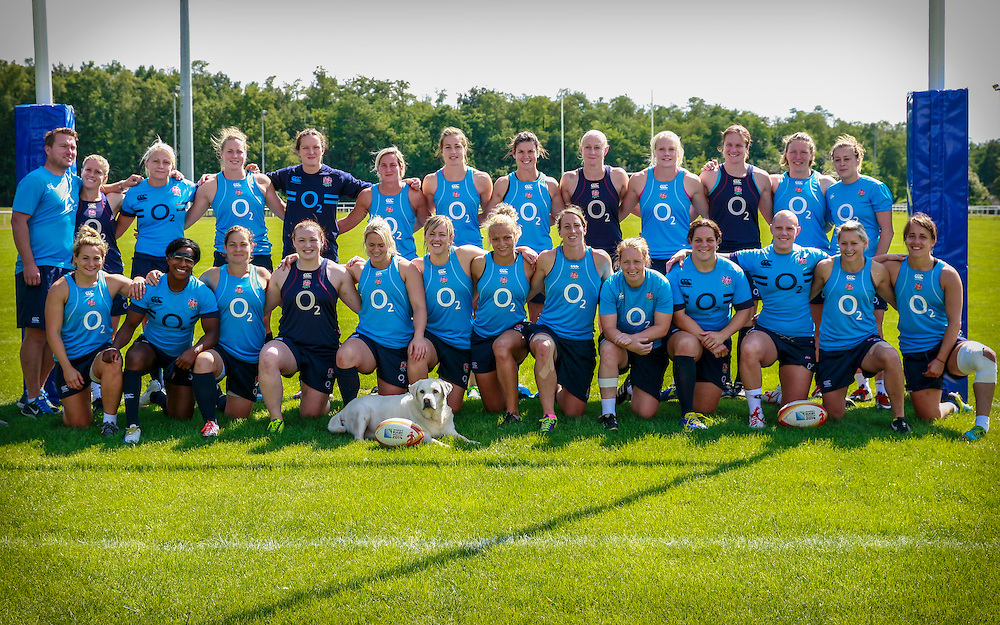 Team during trianing. WRWC England training at Stade Montelievres, Saintry, France, on 15th August 2014