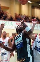 BLNO, eliteserien basket menn, Stovnerhallen 30.01.02. <br /> Oslo Kings vs Ulriken Eagles 88-84. OKs spiller nr. 40, Kelvin J. Woods <br /> Foto: Geir Egil Skog, Digitalsport.
