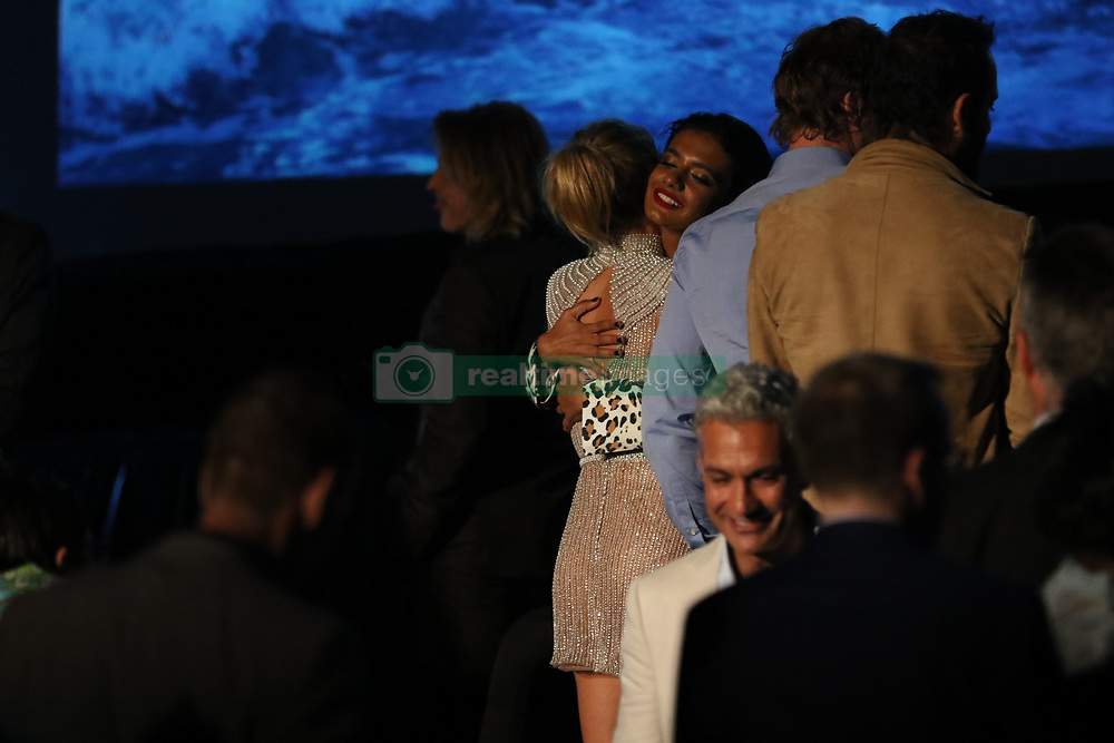 Cast and crew from the film attend the Sydney Premiere of first Aussie Netflix Original, Tidelands at Bennelong Lawn, Royal Botanic Gardens. 10 Dec 2018 Pictured: Elsa Pataky (Adrielle Cuthbert), Madeleine Madden (Viola Roux). Photo credit: Richard Milnes / MEGA TheMegaAgency.com +1 888 505 6342