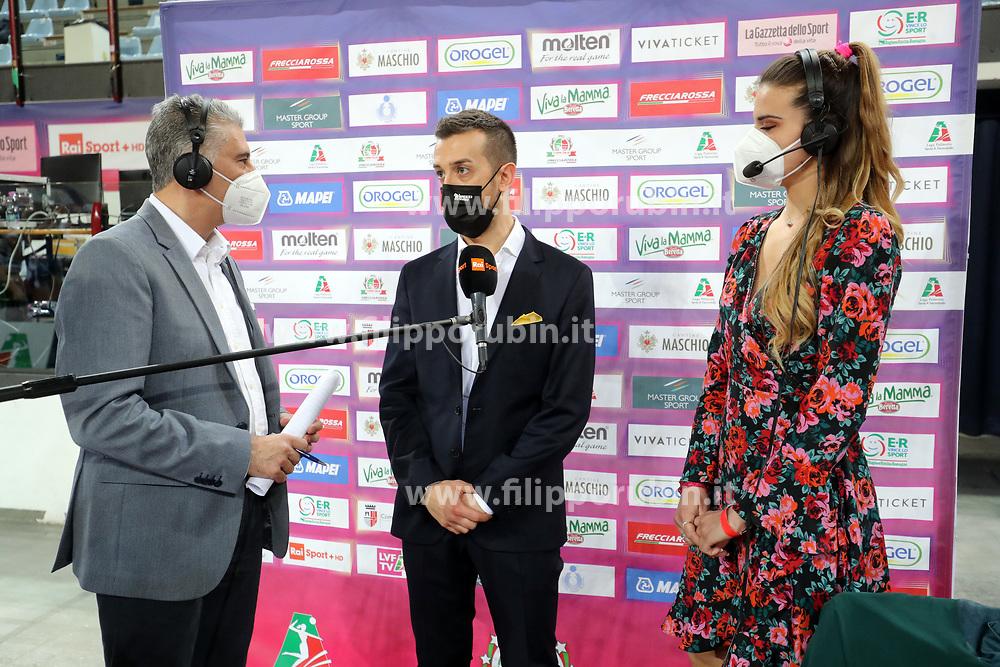 SANTARELLI DANIELE (ALLENATORE CONEGLIANO)<br /> FINAL FOUR COPPA ITALIA PALLAVOLO FEMMINILE<br /> RIMINI 14-03-2021<br /> FOTO FILIPPO RUBIN / LVF