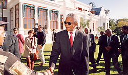 Nelson Mandela in the gardens of the Tuynhuis, Cape Town in 1994.