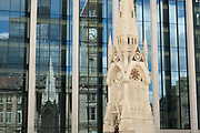 Scene at the newly renovated Chamberlain Square on 18th May 2021 in Birmingham, United Kingdom.