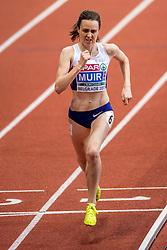 05-03-2017  SRB: European Athletics Championships indoor day 3, Belgrade<br /> Laura Muir GBR pakt goud op 3000m