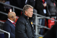 Manchester United Manager David Moyes.<br /> Barclays Premier League match, Cardiff city v Manchester Utd at the Cardiff city stadium in Cardiff, South Wales on Sunday 24th Nov 2013. pic by Phil Rees, Andrew Orchard sports photography,