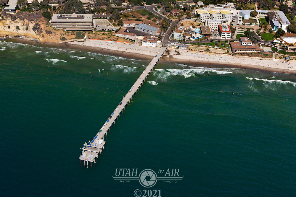 Scripps Pier on the California Coastline