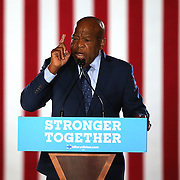 Rep. John Lewis, of Georgia, campaigns for Democratic Presidential nominee Hillary Clinton at the Sanford Civic Center in Sanford, Florida USA on12 Feb 2016.