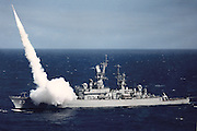 USS Richard Byrd fires Standard-ARM missile