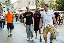 Players of Netherlands in city centre during Day Off in Group C of FIBA Europe Eurobasket 2015, on September 7, 2015, in Zagreb, Croatia. Photo by Vid Ponikvar / Sportida