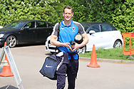 AFC Wimbledon defender Paul Robinson (6) arriving during the EFL Sky Bet League 1 match between AFC Wimbledon and Oldham Athletic at the Cherry Red Records Stadium, Kingston, England on 21 April 2018. Picture by Matthew Redman.