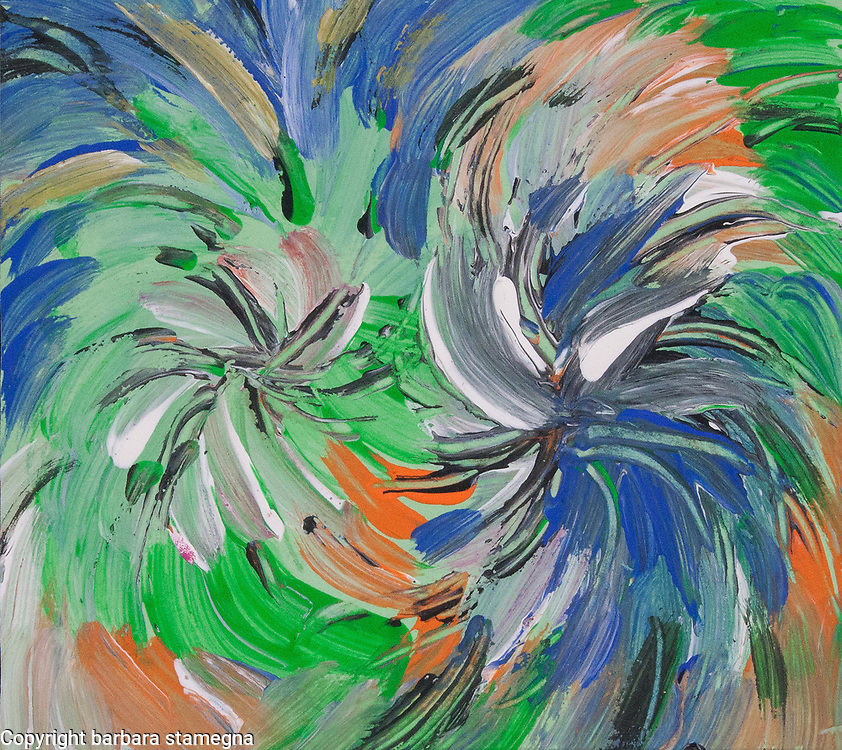 Fluid abstract dynamic image with energetic vortex movements