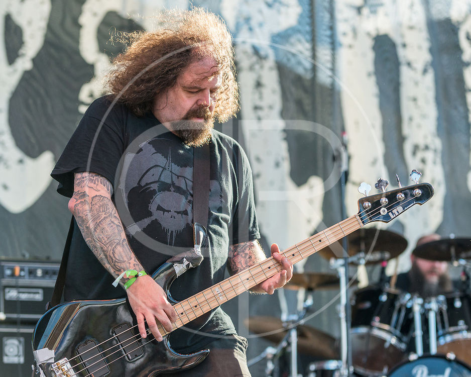 BALTIMORE United States - May 22, 2015: Shane Embury of Lock Up performs at Maryland Deathfest