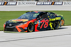 November 2, 2018 - Fort Worth, TX, U.S. - FORT WORTH, TX - NOVEMBER 02: Monster Energy NASCAR Cup Series driver Martin Truex Jr. (78) drives down pit row during practice for the AAA Texas 500 on November 02, 2018 at the Texas Motor Speedway in Fort Worth, Texas. (Photo by Matthew Pearce/Icon Sportswire) (Credit Image: © Matthew Pearce/Icon SMI via ZUMA Press)