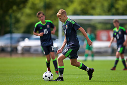 NEWPORT, WALES - Wednesday, July 25, 2018: Wil Griffiths during the Welsh Football Trust Cymru Cup 2018 at Dragon Park. (Pic by Paul Greenwood/Propaganda)