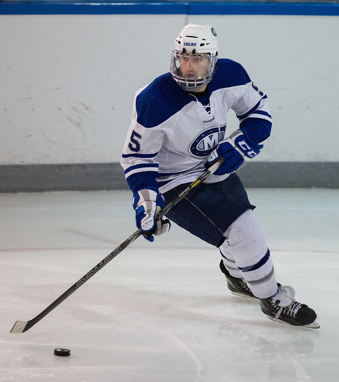 Brendan Cosgrove of Colby College in an NCAA Division III college hockey game against Williams College at Alfond Rink at Alfond Arena, Saturday Nov. 17, 2012 in Waterville, ME. (Dustin Satloff/Colby College Athletics)