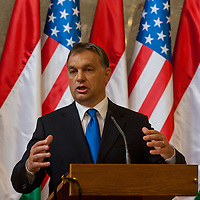 Viktor Orban Prime Minister of Hungary talks during a press conference after the Opening ceremony of the Tom Lantos Intsitute in Budapest, Hungary. Thursday, 30. June 2011. ATTILA VOLGYI