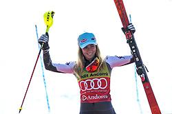 March 16, 2019 - El Tarter, Andorra - Mikaela Shiffrin of USA Ski Team, during Ladies Giant Slalom Audi FIS Ski World Cup race, on March 16, 2019 in El Tarter, Andorra. (Credit Image: © Joan Cros/NurPhoto via ZUMA Press)