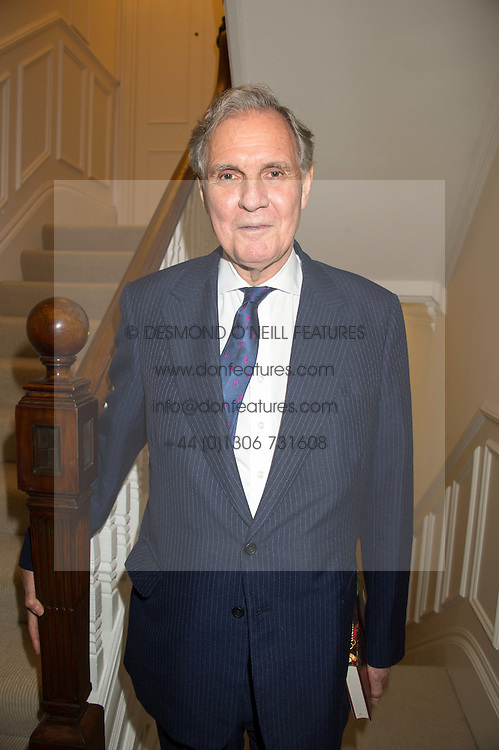 JONATHAN AITKEN at a reception to celebrate the publication of Quicksilver by HRH Princess Michael of Kent held at the home of Richard & Basia Briggs, 35 Sloane Gardens, London on 9th November 2015.