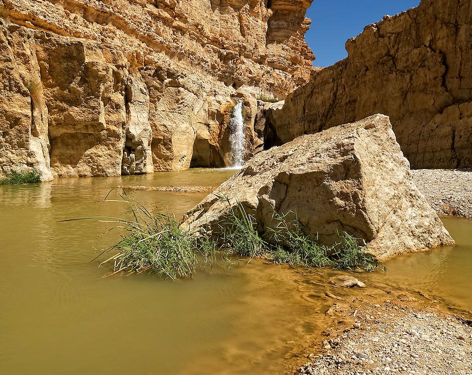 Tunisia - Waterfall in oasis Tamerza