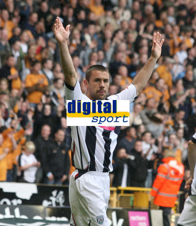 Photo: Mark Stephenson.<br /> Wolverhampton Wanderers v West Bromwich Albion. Coca Cola Championship. Play off Semi Final, 1st Leg. 13/05/2007.West Brom's Kevin Phillips celebrates his 2ed goal