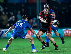 Ryan Bevington of Dragons<br /> <br /> Photographer Simon King/Replay Images<br /> <br /> Guinness PRO14 Round 10 - Dragons v Leinster - Saturday 1st December 2018 - Rodney Parade - Newport<br /> <br /> World Copyright © Replay Images . All rights reserved. info@replayimages.co.uk - http://replayimages.co.uk