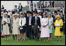 June 19, 2018 - Ascot, United Kingdom - Image licensed to i-Images Picture Agency. 19/06/2018. Ascot , United Kingdom. The Queen and members of the Royal family watch the last race  on the opening day of Royal Ascot, United Kingdom. (Credit Image: © Stephen Lock/i-Images via ZUMA Press)