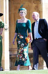 Lady Kitty Spencer arrives at St George's Chapel in Windsor Castle for the wedding of Prince Harry and Meghan Markle.