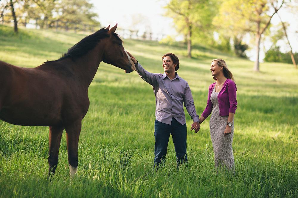 May 18 2014 - Caty Adderton and Matt Moser engagement photos in Ponca Hills, Omaha, Nebraska.