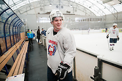Rok Pajic during practice session of Slovenian Ice Hockey National Team for IIHF World Championship in Sweden and Finland, on March 28, 2013, in Arena Zlato Polje, Kranj, Slovenia. (Photo by Vid Ponikvar / Sportida.com)