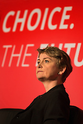 © Licensed to London News Pictures. 11/07/2015. Leeds, UK. Picture shows Yvette Cooper. The four Labour party leadership candidates Andy Burnham, Yvette Cooper, Jeremy Corbyn & Liz Kendall have been at Eland Road in Leeds for local Hustings as part of the election campaign. Photo credit : Andrew McCaren/LNP