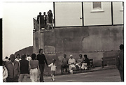 Cowes seafront during Cowes week, August 1986.