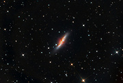 """The starburst galaxy Messier 82 (commonly known as """"the Cigar Galaxy"""") in constellation Ursa Major."""