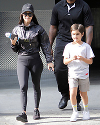 Kourtney Kardashian is back taking care of her children in Calabassas, CA. It has been reported that Kourtney is not allowing Scott Disick to see his children until he gets sober. 30 May 2017 Pictured: Kourtney Kardashian, Mason Disick. Photo credit: Leah / MEGA TheMegaAgency.com +1 888 505 6342