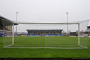 A general view inside The One Call Stadium during the The FA Cup match between Mansfield Town and Dagenham and Redbridge at the One Call Stadium, Mansfield, England on 29 November 2020.
