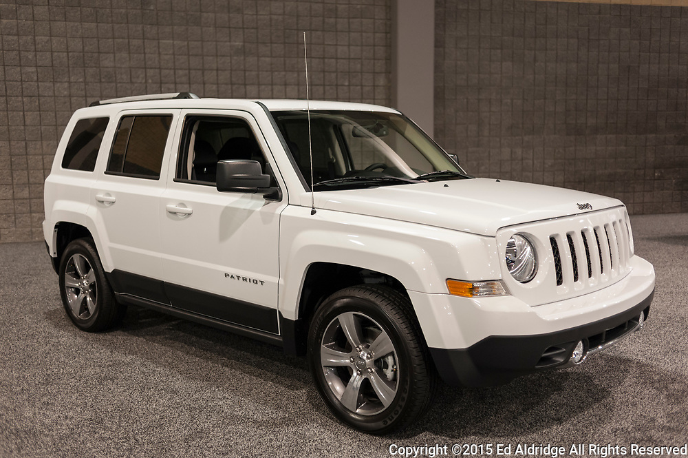 CHARLOTTE, NC, USA - November 11, 2015: Jeep Patriot on display during the 2015 Charlotte International Auto Show at the Charlotte Convention Center in downtown Charlotte.