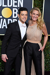 January 6, 2019 - Beverly Hills, California, U.S. - RAMI MALEK and JULIA ROBERTS during red carpet arrivals for the 76th Annual Golden Globe Awards at The Beverly Hilton Hotel. (Credit Image: © Kevin Sullivan via ZUMA Wire)