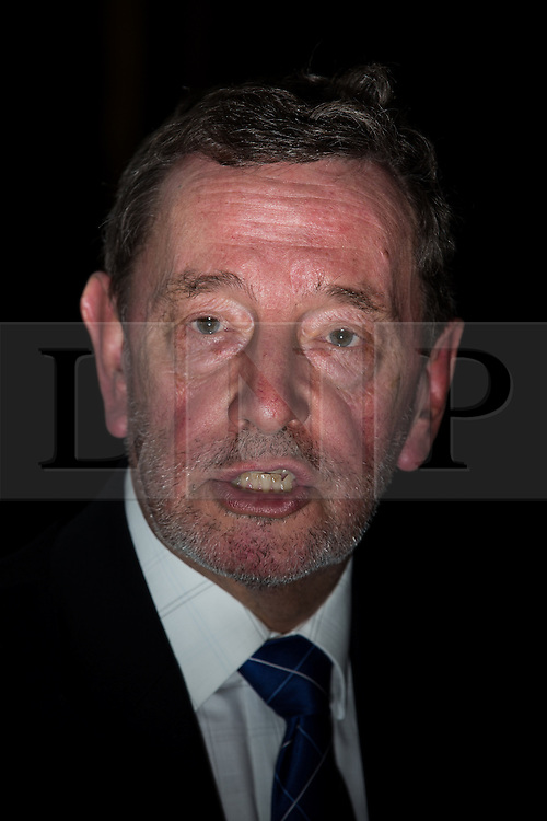 © Licensed to London News Pictures . FILE PICTURE DATED 13/02/2014 of DAVID BLUNKETT at Manchester University , as the former Cabinet Minister and incumbent MP for Sheffield Brightside and Hillsborough has announced he is stepping down at the next general election . Blunkett was first elected to Parliament in 1987 and served in several cabinet positions , including as Home Secretary , under Tony Blair . Photo credit : Joel Goodman/LNP
