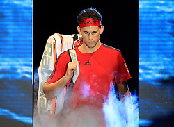 Dominic Thiem makes his way to the court during day four of the NITTO ATP World Tour Finals at the O2 Arena, London.