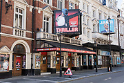 West End theatres ramain closed, with musicals and other theatre shows on hold under coronavirus lockdown on 26th June 2020 in London, England, United Kingdom. Theatreland has taken a big hit as social distancing has not allowed audiences to return and so doors and box offices are shut. As the July deadline approaces and government will relax its lockdown rules further, the West End remains quiet, while some non-essential shops are allowed to open with individual shops setting up social distancing systems.