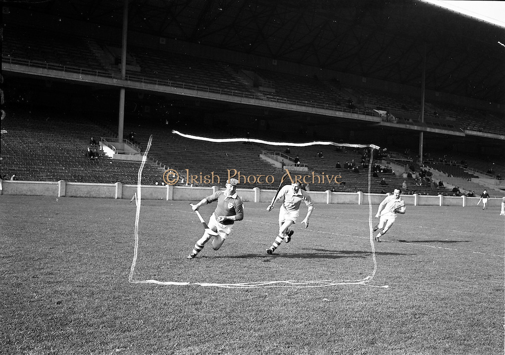 24/02/1963<br /> 02/24/1963<br /> 24 February 1963<br /> Railway Cup Semi-Final: Munster v Ulster at Croke Park, Dublin.<br /> In the early stages of the game, Christy Ring, ball in hand, rounds Ulser full-back, heading determinedly for the goal.