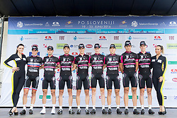 Team Radenska during Stage 2 from Ribnica to Kocevje (160,7 km) of cycling race 21st Tour of Slovenia, on June 20, 2014 in Slovenia. Photo By Urban Urbanc / Sportida