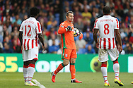 Goalkeeper Shay Given of Stoke City looks on frustrated.  Premier League match, Crystal Palace v Stoke city at Selhurst Park in London on Sunday 18th Sept 2016. pic by John Patrick Fletcher, Andrew Orchard sports photography.
