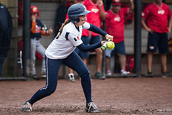Shots taken during the 1st round pool game of the European Softball Woman Championship 2015, between Spain and France National Teams, in Rosmalen, Netherlands.<br /> Spain Won 8-7 in extra innings<br /> July 19th 2015<br /> Credit : Glenn Gervot