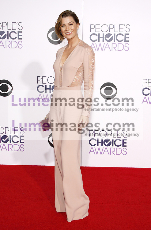 Ellen Pompeo at the 41st Annual People's Choice Awards held at the Nokia L.A. Live Theatre in Los Angeles on January 7, 2015. Credit: Lumeimages.com