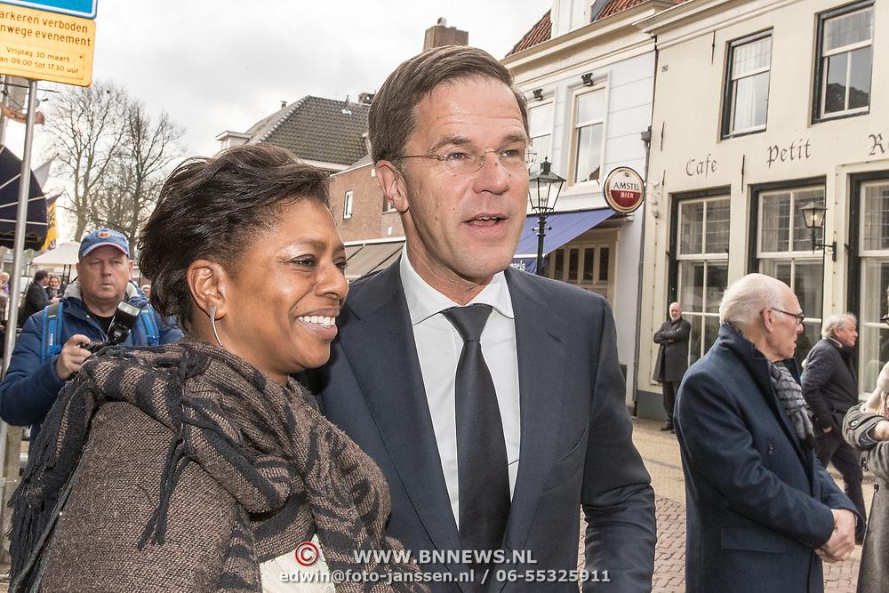 NLD/Naarden/20180330 - Matthaus Passion in de grote kerk van Naarden 2018, Mark Rutte en Joyce Sylvester